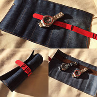 100% HandMade Canvas and Soft Leather Watch Roll ,Travel Watch Case,Watch Pouch Wholesale