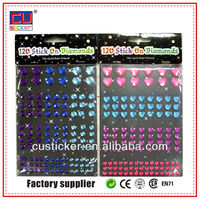 colorful patterns diamond toe nail stickers