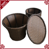 Garden rattan holder beer bucket ice pail