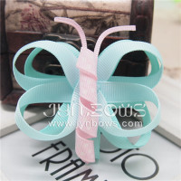 ribbon butterfly hair bow clip for baby girl
