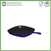 Authentic enamel cookware non-stick grill pan