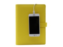 A5 Binder PU Leather notebook / organizer with powerbank 5000 mah