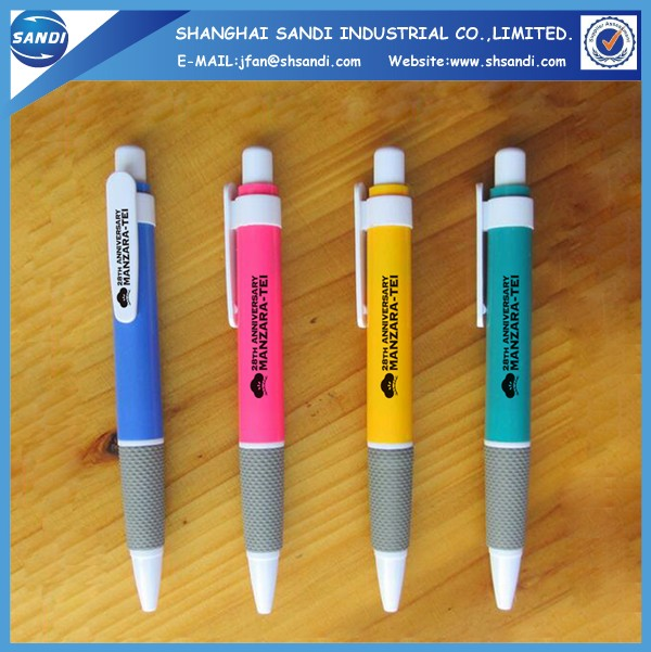 Promotional plastic ball pen with logo