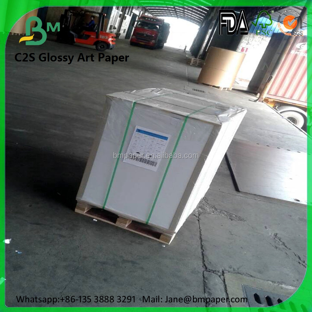 Two side coated 250g 300g 350g a0 a1 white cast coated paper for jewellery box