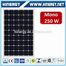 low price high efficiency monorystalline 250W amorphous silicon solar panel 60 cell solar photovoltaic module 250w