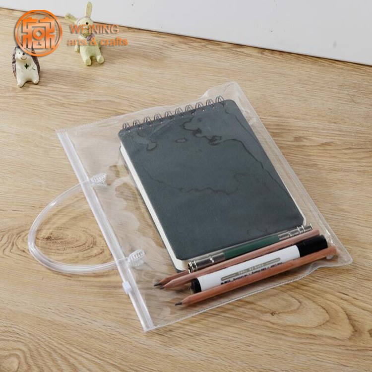 Hot Sale Clear Vinyl Pvc Zipper Bags With Handles