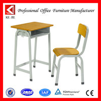 Modern attached school desks and chair,old school furniture for sale