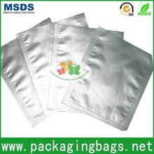 clean plain silver plastic foil bag sealed/silver packaging bag for food/electronic