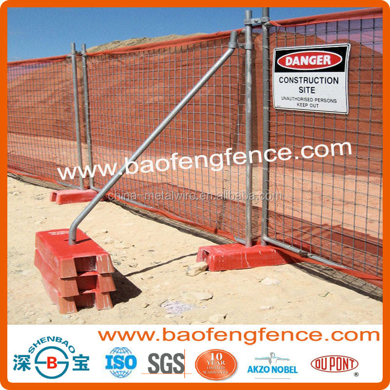 AS4687-2007 Hot Sale Australia Canada Construction Site Welded Mesh Hot Dipped Galvanized Temporary Fence (Factory Exporter)