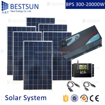 BESTSUN 6000W Home solar power system kit buy wholesale direct from china 260w poly solar panel for Africa