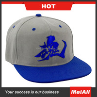 custom 6 panel plain blank snapback hat Design your own 3d acrylic letters snapback hat