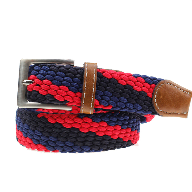 2018 fashion Mixed color braided belts mens woven belt