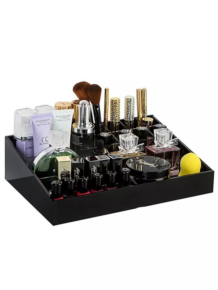 Wholesale acrylic  makeup organizer cosmetic drawers boxes