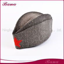 Professional mould design bath cap sauna hat wool felt hat