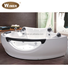 2016 Luxury Cheap 2 person freestanding whirlpool massage shallow corner bathtub for fat people