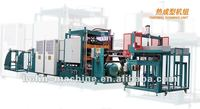 High speed hydraulic plastic thermoforming machine