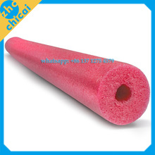 Custom high density small white EPE foam tube, protective polyethylene rubber foam tubes