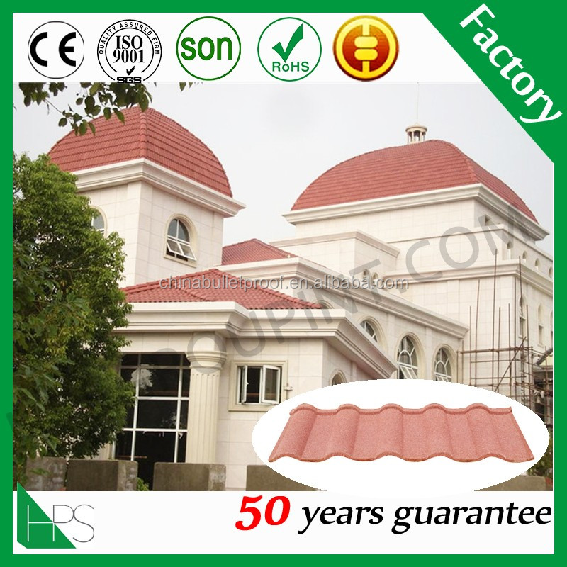 Stone Chips Coated Steel Tile /Guangzhou Building Material/Metal Roofing