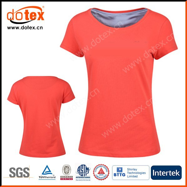 2017 wicking dry rapidly fit plain custom woman t-shirt