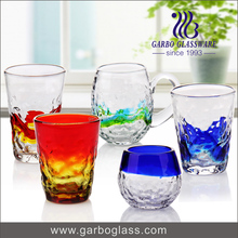 Colorful antique colored wine glass cups cheap wine glasses wholesale glasses with handle