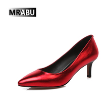 high heel shoe Patent leather Pointed toe Wholesale Sexy women pumps