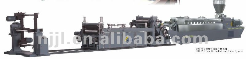PET twin screw plastic recycling machine