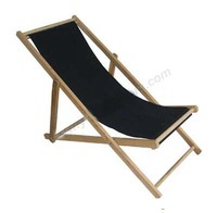 Wholesale Promotional Customized Logo Foldable Wooden Beach Deck Chair