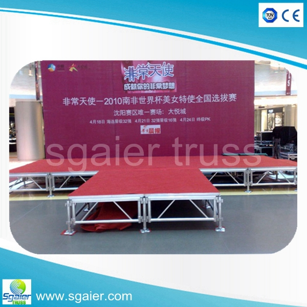 (TUV certification)portable stage stairs/retractable stage/indoor concert stage
