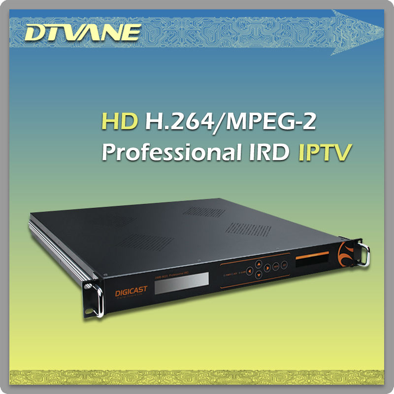IRD MPEG2 H.264 Decoder CI Decryption Analog Digital Audio Video out mpeg4 hd satellite receiver