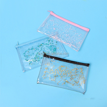 PVC Cosmetic Bag Clear PVC Women Makeup Bag Transparent Cosmetic Bags Travel Stationery Pouch