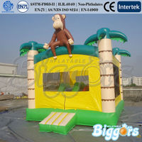 Monkey and Jungle Theme Commercial Inflatable Moonwalk For Small Order