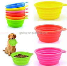 1 Pc Cute Foldable Dog Cat Pet Silicone Travel Feeding Bowl Water Dish Feeder