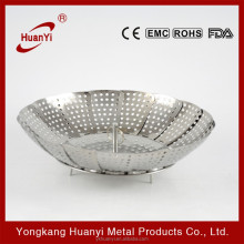 stainless steel adjustable steamer basket tray