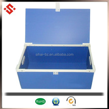 pp corflute plastic container with lid handle