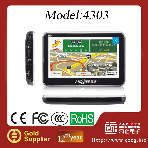 4.3'' Touchscreen GPS Navigation with GPS Navigation Software