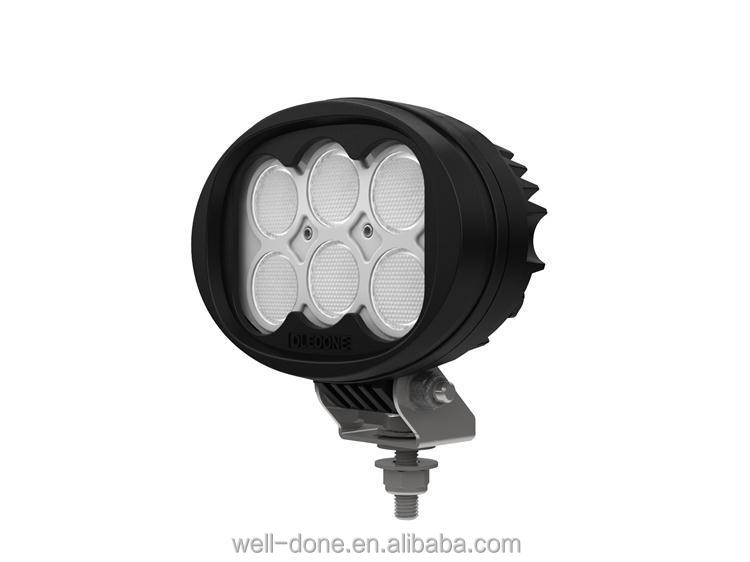 60w oval led tractor working lights IP68 waterproof