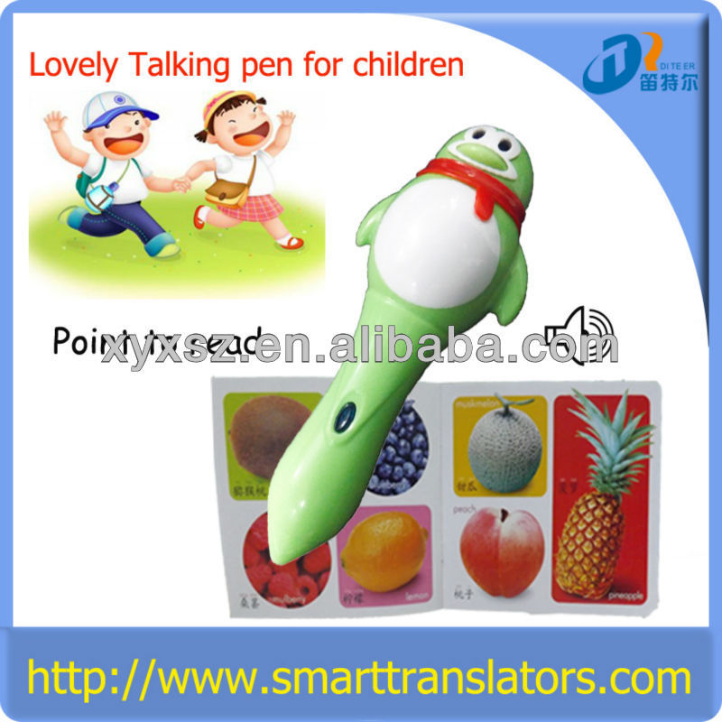 New talking reading pen software support talking story in multi language