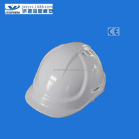 White industrial / contruction safety helmet certificate for HDPE material with printed logo