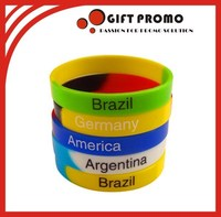 Top Quality Custom Logo Printed Silicone Wristbands