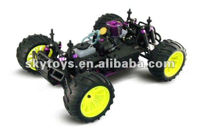rc trucks and trailers 1/10 Scale. Gas Powered 4WD off-Road Truck RC Hobby Model