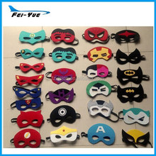 Supply Wholesale kids hero felt mask spiderman flash superman batman