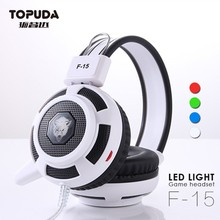 Wholesale mobile accessories new fashion led light gaming headset for laptop computer