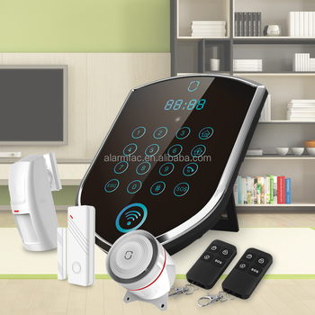 WolfGuard new !gsm security wireless smart security alarm system with touch display and keypad