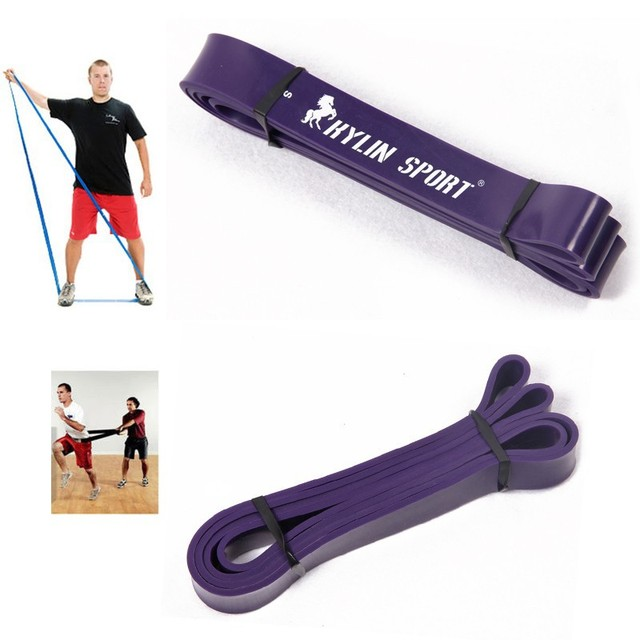 "black and  Purple combination  Cheaper   Natural latex 41"" Strength Resistance Bands Pull Up Strengthen Muscles"