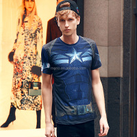 MGOO New Arrival Super Hero Mens T-shirt Garment Stock Lot Buyer Vivid Sublimation Print Summer