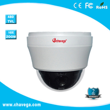 RS485 Mini Medium ir dome camera 1/3inch SONY CCD,480TVL,10X optical focus, F=3.9-39mm,32 presets,OSD English menu,DC12V/2A