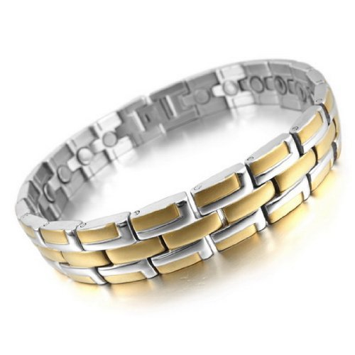 New Arrival Hot Sale Chic Gothic & All-Purpose Style Magnetic Therapy Bracelets Made By Stainless Steel With Length 8.58inch