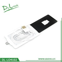 Ultra Thin Compact Credit Card Style Wallet Sized Micro USB Data / Sync / Charge Travel Cable For Mobile Phones