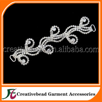 New Design Metal Swimwear Accessories Jewelry Rhinestone Connector For Bikini