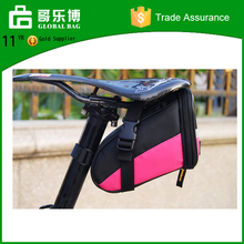 Yiwu supplier multicolor bike tail waterproof bicycle bag, fitness bicycle saddle bag big storage